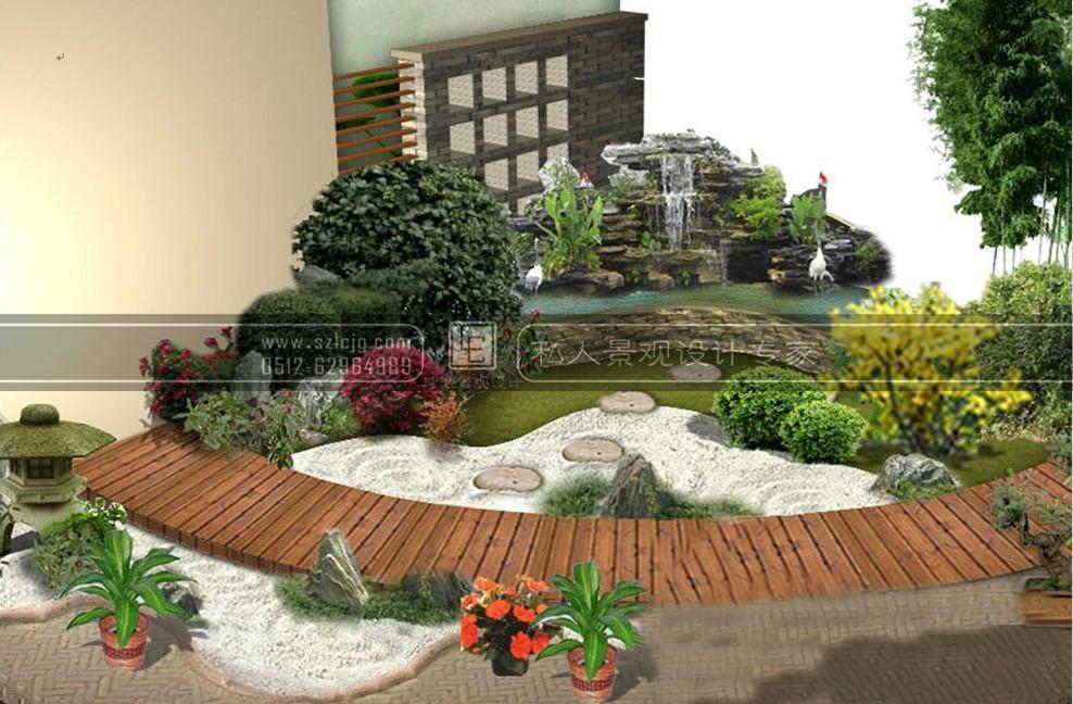 江阴刘家大院别墅庭院景观设计_日式庭院设计_精品_理