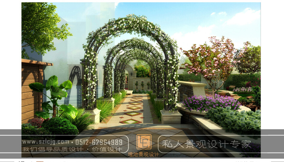 合肥旭辉花园夏女士别墅庭院景观设计
