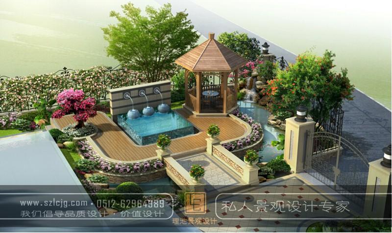 常熟信步华庭方总庭院景观设计_简欧风格_精品案例_理