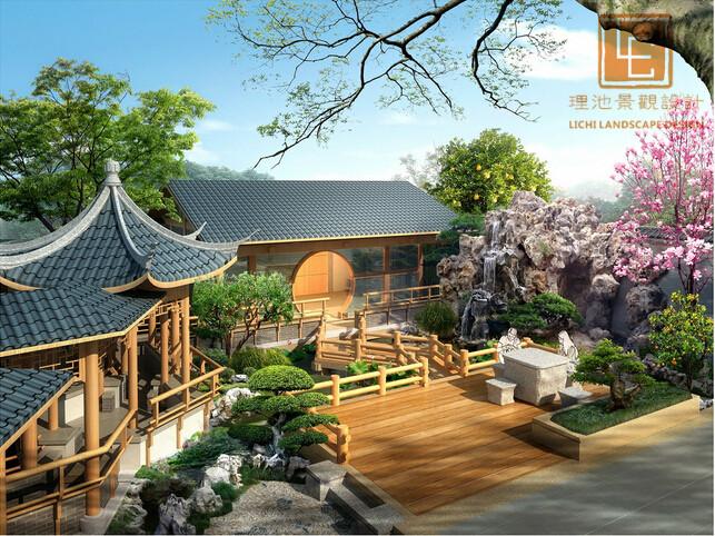 江阴文定会所景观规划_别墅庭院设计_精品案例_苏州理图片